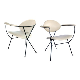 1950s Atomic Age Lounge Chairs by Joseph Cicchelli for Reilly-Wolff - a Pair For Sale