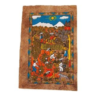 Mexican Village Folk Print Artwork