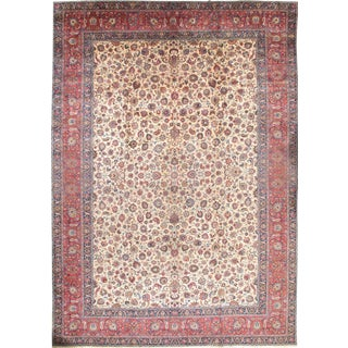 """Pasargad Persian Mashad Hand Knotted Rug - 11'2"""" X 15'7"""" For Sale"""