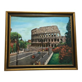 Oil Painting of the Colosseum in Rome For Sale