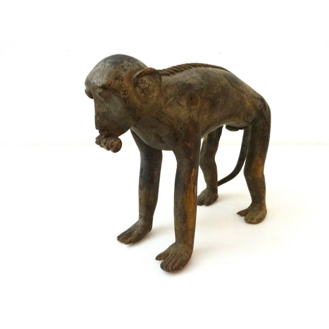 Bronze African Ashanti Akan Sculpture - Monkey For Sale In New York - Image 6 of 7