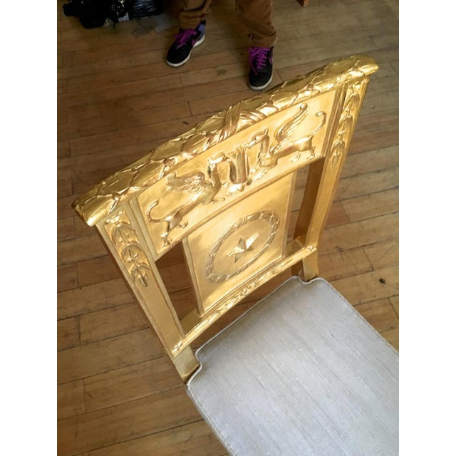 Mid 19th Century French Empire Very Long Gold Leaf Carved Wood Bench For Sale - Image 5 of 8