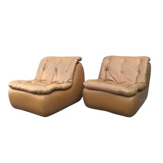 1970s Michel Cadestin for Airborne International Lounge Chairs- Set of 2 For Sale