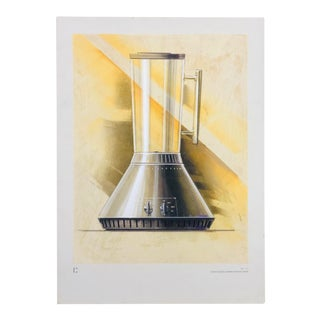 1960s Vintage Claus Otto Huckenbeck Mid-Century Modern Industrial Drawing For Sale