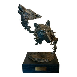 Mark Hopkins -Cry of the Wolves - Southwestern Bronze Sculpture