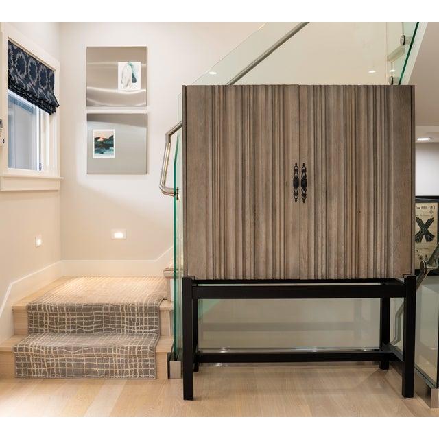 2010s Monarca Cabinet on Ebony Base With 2 Adjustable Shelves For Sale - Image 5 of 5