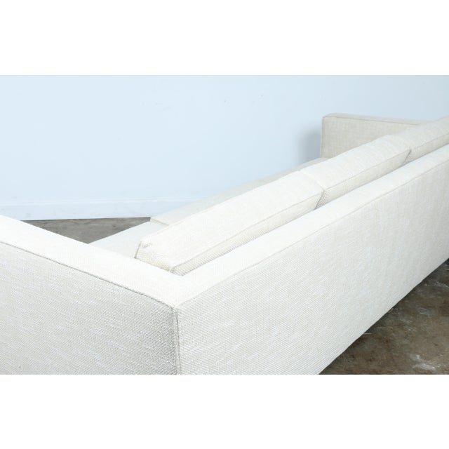 Chrome White Mid-Century Sofa With Chrome Legs For Sale - Image 7 of 11