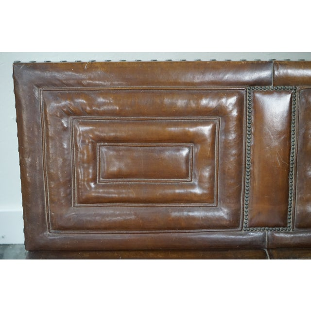 Decorative Leather Bench For Sale - Image 9 of 12