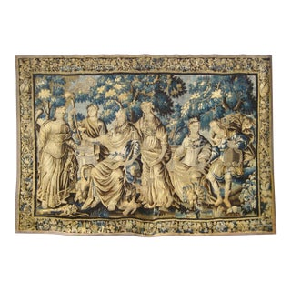 French XVII Century Aubusson Tapestry/Wall Hanging Representing the Wedding of Psyche For Sale