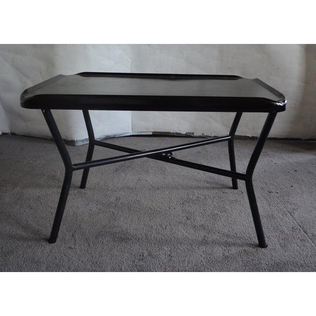 Russel Wright Black Metal Tray Table - Image 2 of 7