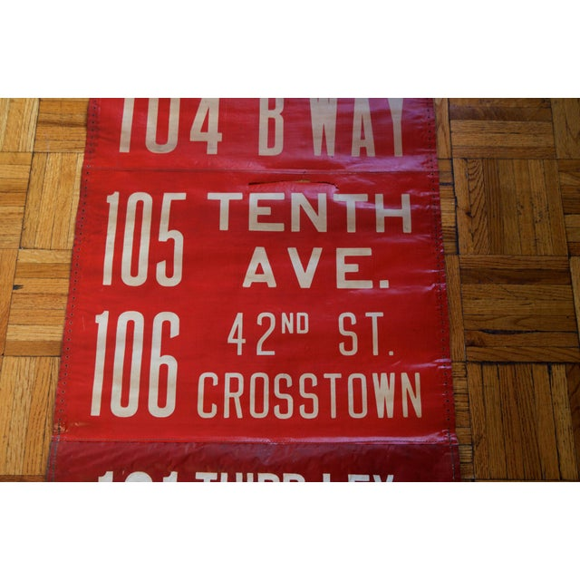 Industrial 1950s Vintage New York City Transit Trolley Bus Scroll For Sale - Image 3 of 8