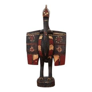 Vintage Senufo Bird (Hornbill) Statue For Sale