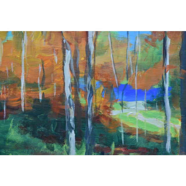 """Stephen Remick """"Autumn by the River"""" Acrylic Painting by Stephen Remick For Sale - Image 4 of 9"""