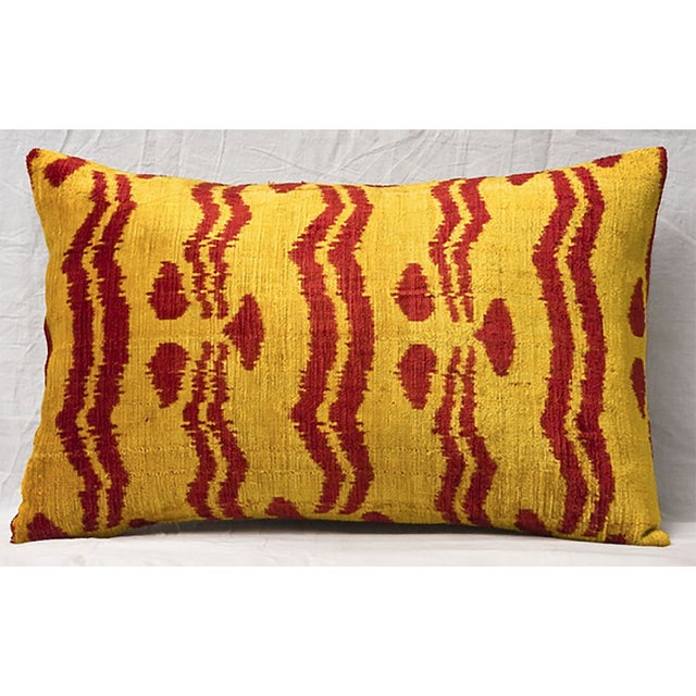 Bhangra Yellow and Red Silk Pillows - A Pair - Image 2 of 3