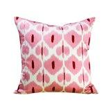 Image of Kim Salmela Turkish Silk Ikat Square Throw Pillow For Sale