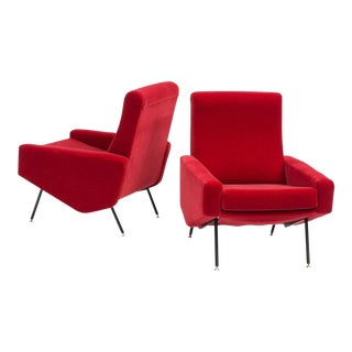 Pair of Troika Lounge Chairs by Pierre Guariche, France, 1950s For Sale