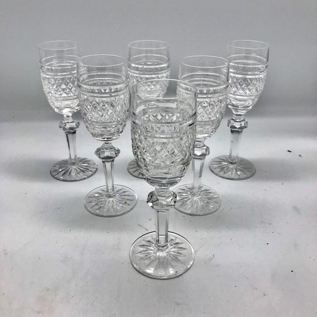 1960s Waterford in Rare Archive Castletown Pattern Crystal Glasses - 18 Pieces For Sale - Image 5 of 11