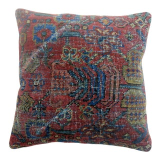 Red Blue Rug Pillow For Sale