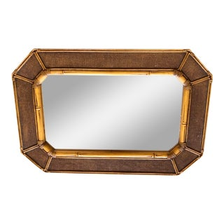 Faux Bamboo Octogonal Mirror For Sale