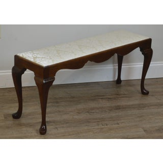 Custom Quality Solid Mahogany Queen Anne Narrow Bench Preview