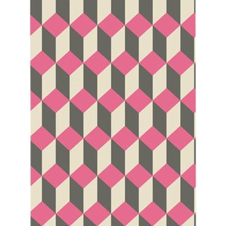 Cole & Son Delano Wallpaper Roll - Pink And Black For Sale