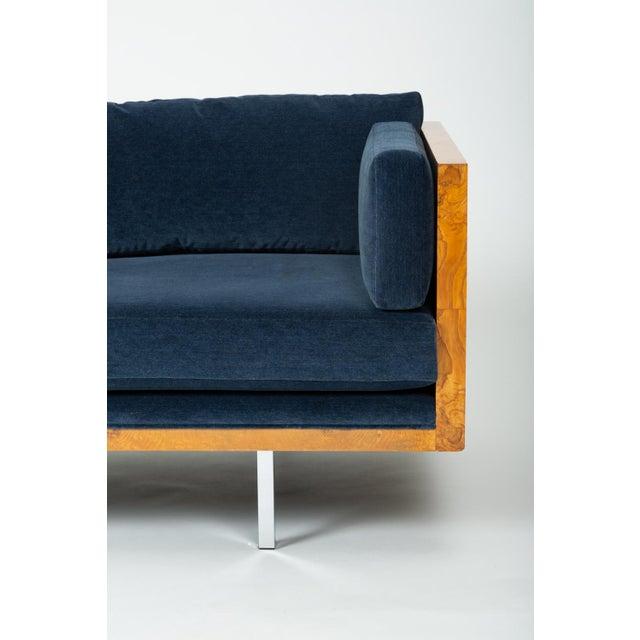 Milo Baughman Burl Wood Case Sofa for Thayer Coggin For Sale - Image 10 of 13