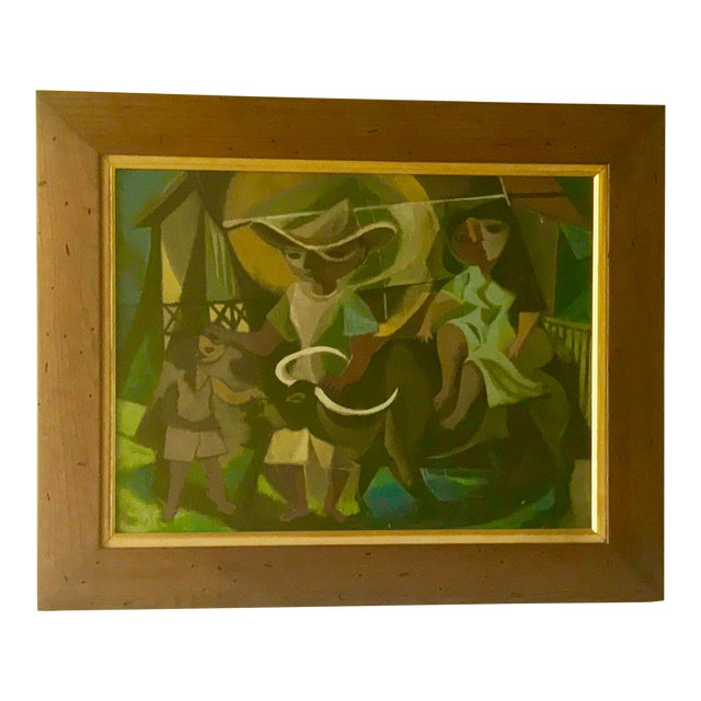 1948 Vintage William Rose Modern Oil Painting For Sale