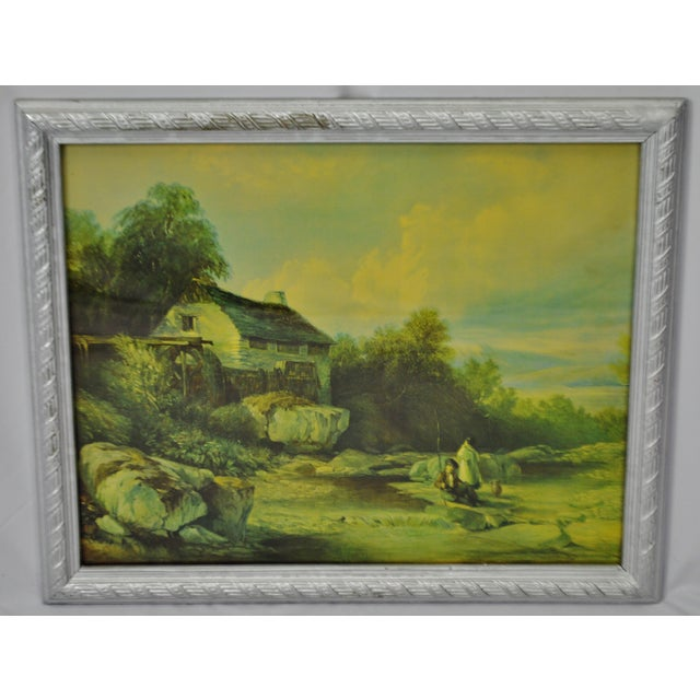 Vintage Framed Landscape Print by Muller Condition consistent with age and history. Please use zoom feature to check item...