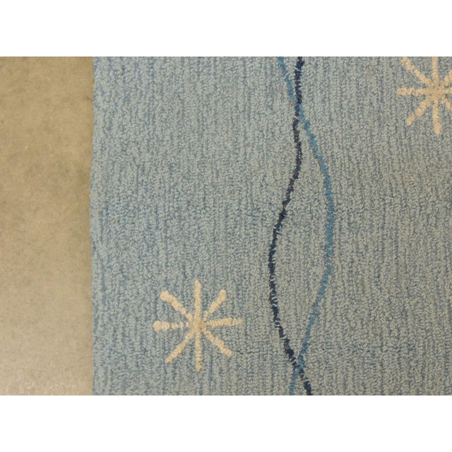 Vintage Edward Fields Infinity Star Blue and White Area Rug - Image 4 of 6
