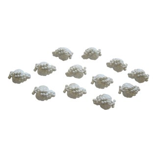 White Grape Porcelain Place Card Holders-12 Pieces For Sale