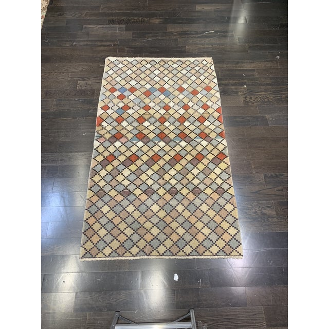 1950s Vintage Turkish Zeki Müren Eclectic Rug- 4′ × 6′10″ For Sale - Image 13 of 13