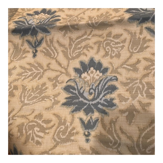 Caspian Hand Printed Small Floral Fabric For Sale