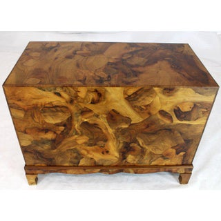 1970s Mid-Century Modern Italian Burl Olive Wood Patch Parquetry 3-Drawer Bachelor Chest Preview