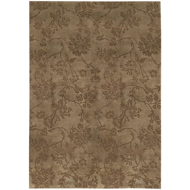 "Contemporary Hand Woven Rug - 6'2"" x 9' - Image 1 of 3"