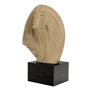 Mid Century Female Bust Sculpture by Austin Prod Inc For Sale