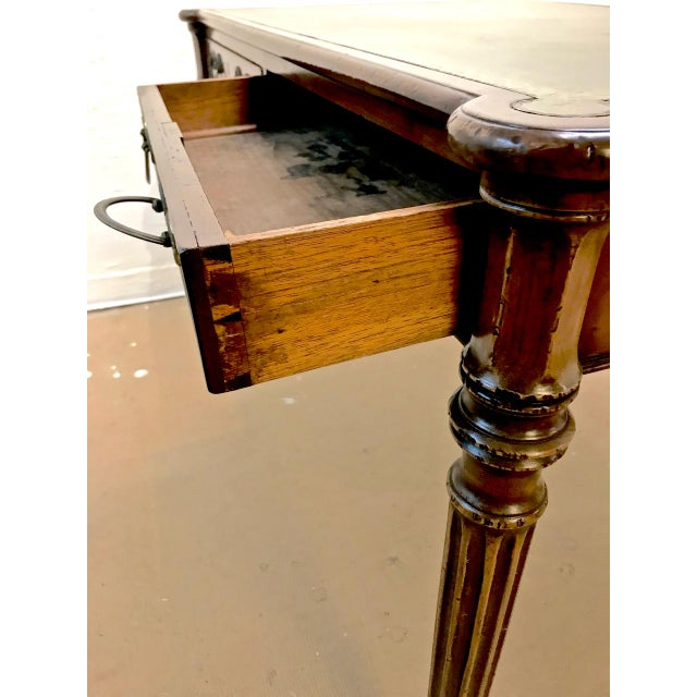 1810s English Regency Partners Writing Table For Sale - Image 10 of 13