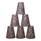 Image of Fortuny Uccelli Pattern Chandelier Shades - Set of 6 For Sale