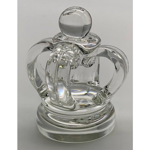 Vintage Steuben Glass Lloyd Atkins Decorative Crystal Crown For Sale - Image 13 of 13