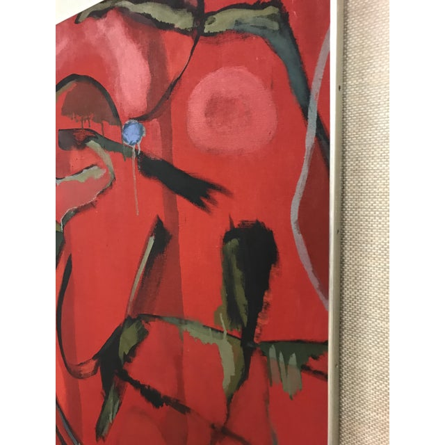 Abstract Oil on Canvas Painting For Sale - Image 4 of 7