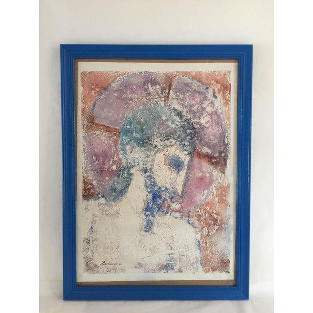 """Luis Orozco '64 """"Centurion"""" Emulsion Print Original 22 x 31 Frame Size Excellent Signed. Glass. Framed."""