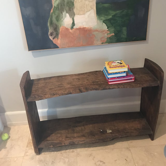 Antique Primitive Wood Bookcase For Sale In Miami - Image 6 of 10