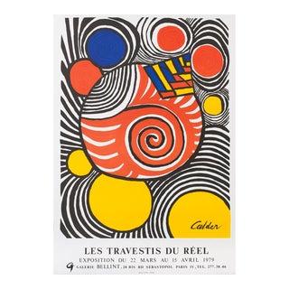 "Calder ""Les Travetis Du Reel"" Lithograph For Sale"