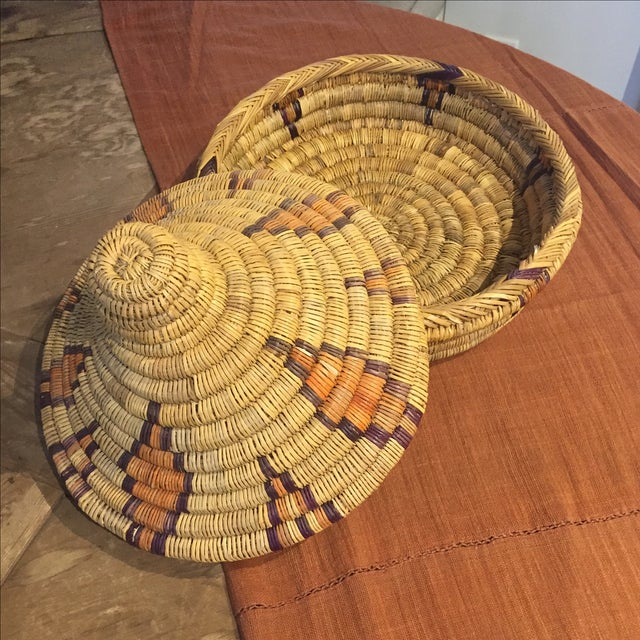 Moroccan Basket With Lid - Image 2 of 6