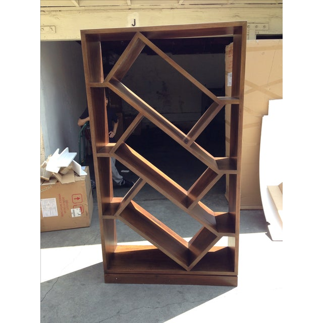 Diagonally Slanted Standing Bookshelf - Image 3 of 5