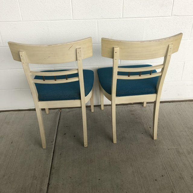 Art Deco 1960s Vintage Klismos Style Greek Key Dining Chairs- A Pair For Sale - Image 3 of 11
