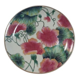 Chinese Export Decorative Floral Plate For Sale