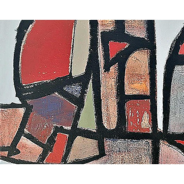 """Abstract """"Stained Glass Gone Awry"""" by Kenneth Joaquin (B. 1948) For Sale - Image 3 of 5"""