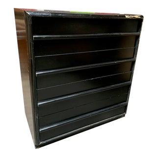 Mid-Century Modern Black 4-Drawer Widdicomb Highboy For Sale