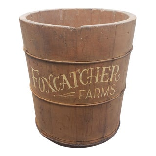 1930s Foxcatcher Farms Feed Measure Bucket For Sale