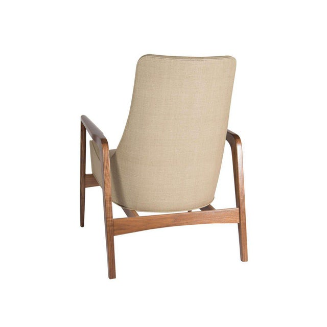 2010s Pair of Warren Walnut Lounge Chairs For Sale - Image 5 of 6